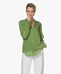 forte_forte Voile Shirt with Jewel Buttons - Aloë