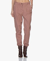 by-bar Embrace Cavalry Twill Pleated Pants - Ash Rose