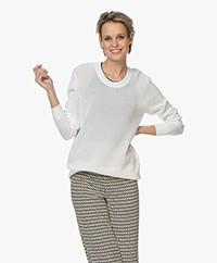 Joseph Resille Mesh Knit Sweater - White