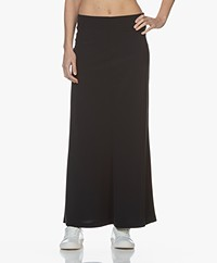 JapanTKY Rena Travel Jersey Maxi Skirt - Blue Black