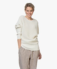 Sibin/Linnebjerg Joy Merino Blend Sweater - Off-white