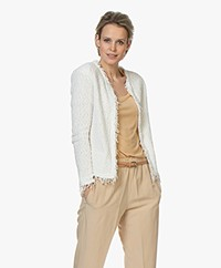 IRO Shavani Boucle Jacket - Off-white