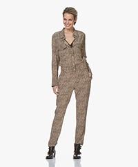 Zadig & Voltaire Clue Leopard Printed Jumpsuit - Beige/Black