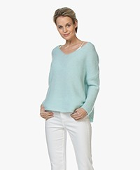 American Vintage Vacaville V-neck Pullover - Baby Blue