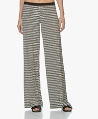 SIYU Himba Tech Jersey Printed Pants - Black/Off-white
