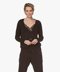 Filippa K Silk Mix V-Neck Vest - Zwart