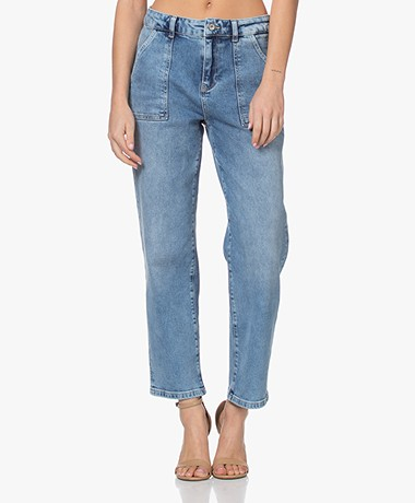 by-bar Smiley Boyfriend Jeans - Blauw