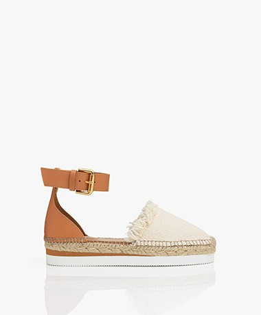 See by Chloé Glyn Espadrille Sandals - Natural/Camel Brown