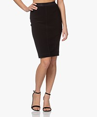 By Malene Birger Polson Crepe Pencil Skirt - Black