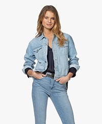 Rag & Bone Shrunken Trucker Denim Jacket - Dagger