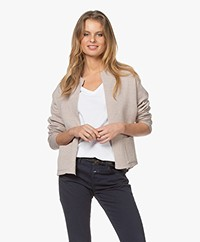 Sibin/Linnebjerg Isabel Merino Blend Open Cardigan - Light Sand