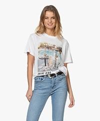 ANINE BING Lili AB X TO Faye Dunaway T-shirt - Wit