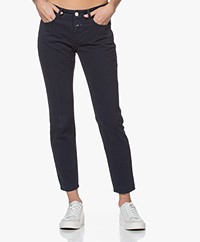 Closed Baker Mid-rise Slim-fit Twill Pants - Dark Night