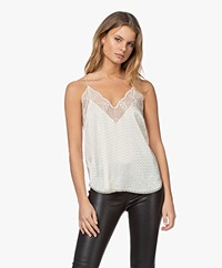 Zadig & Voltaire Christy Silk Jacquard Camisole - Vanille