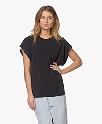 IRO Paulina Lyocell Mix T-shirt - Used Black