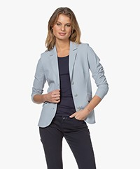JapanTKY Dannot Travel Jersey Blazer - Soft Grey Blue