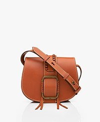 ba&sh Teddy S Leather Shoulder Bag - Tan