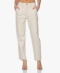 by-bar Smiley Cotton Twill Pants -  Off-white