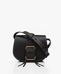 ba&sh Teddy S Leather Shoulder Bag - Black