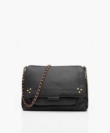 Jerome Dreyfuss Lulu M Leather Shoulder/Cross-body Bag - Black/Vintage Gold