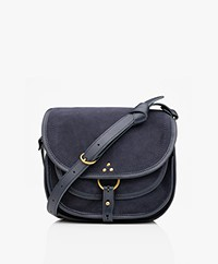 Jerome Dreyfuss Felix M Saddle Schouder/Cross-body Tas - Marine
