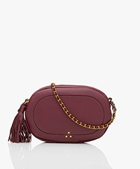 Jerome Dreyfuss Marc Calfskin Shoulder/Cross-body Bag - Burgundy
