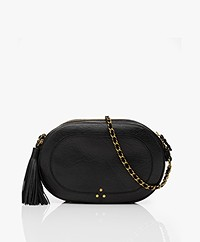 Jerome Dreyfuss Marc Goatskin Shoulder/Cross-body Bag - Black/Gold