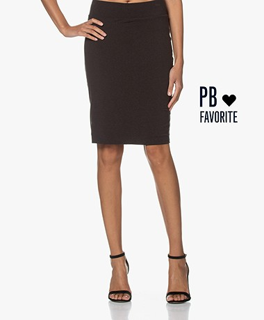 no man's land Jersey Double Layered Skirt - Concrete