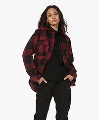 Zadig & Voltaire Timber Geruite Overhemdjas - Zwart/Rood