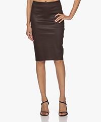 By Malene Birger Floridia Lambs Leather Pencil Skirt - Dark Plum