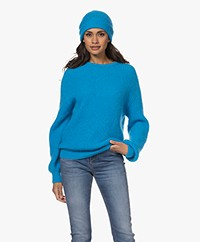 American Vintage Rozy Kid Mohairmix Muts - Turquoise