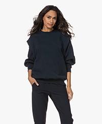American Vintage Wititi Sweatshirt with Detachable Sleeves- Vintage Navy