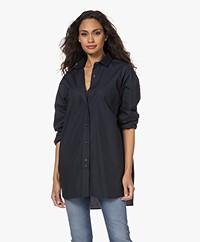 Closed Mira Oversized Cotton Shirt - Dark Night
