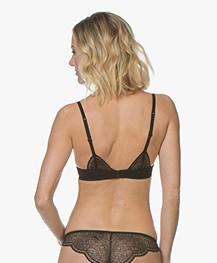 Calvin Klein Black Kanten Brazilian Slip - Zwart