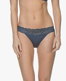 Calvin Klein Seductive Comfort Kanten Slip - Lyria Blue