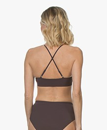 Filippa K Soft Sport Cross-back Bikini Top - Midnight Purple