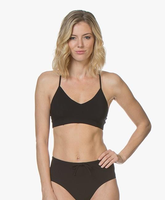 Filippa K Soft Sport Cross-back Bikini Top - Black