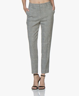 BOSS Tavela Cropped Pants with Checkered Pattern - Open Miscellaneous