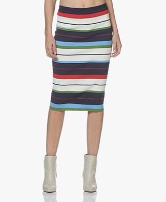 By Malene Birger Ayaja Striped Pencil Skirt - Midnight Heaven