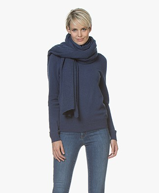 Repeat Cashmere Scarf - Dark Blue