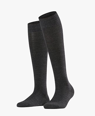 FALKE Softmerino Knee Socks - Anthracite Grey melee