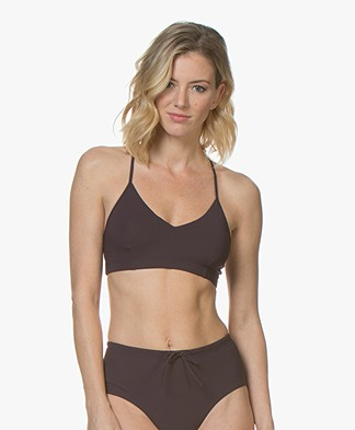 Filippa K Soft Sport Cross-back Bikinitop - Midnight Purple