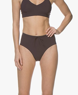 Filippa K Soft Sport High Waist Bikini Bottom - Midnight Purple