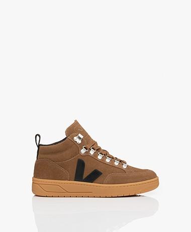 VEJA Roraima Suède Mid Top Sneakers - Bruin/Zwart