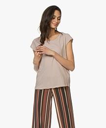 Fine Edge Regular Cap Sleeve T-shirt - Sand