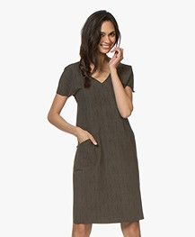 JapanTKY Tyra Travel Jersey Print Dress - Linen
