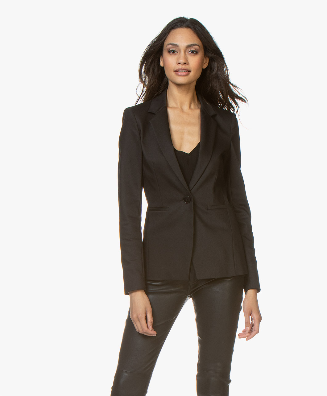 Afbeelding van Drykorn Blazer Golders in Fine Cotton stretch Zwart