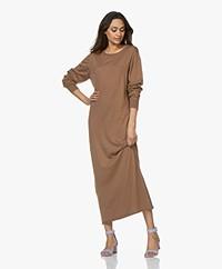 extreme cashmere N°95 Tiamo Cashmere Maxi Dress - Tan