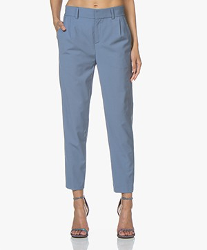 Drykorn Find Tapered Wool Blend Pants - Blue