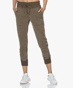 James Perse Mixed Media Pant - Army